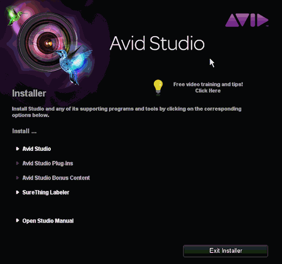 Avid Studio installation