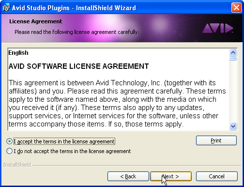 Plugins license agreement