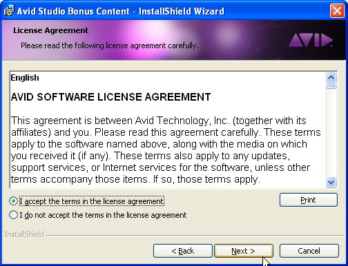 Bonus content license agreement