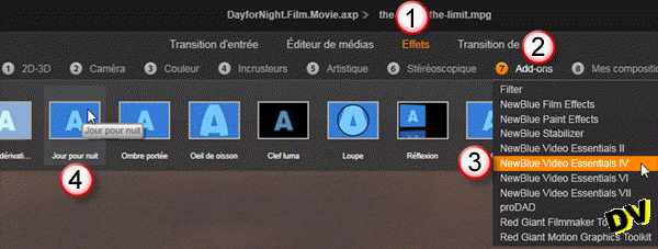"Implementation of the ""Day for Night"" effect"