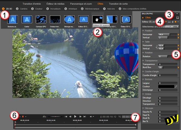 Application of Advanced 2D Editor Effect