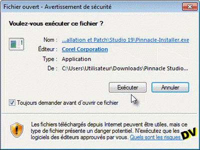 Le fichier d'installation Pinnacle-Installer.exe