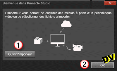 And Pinnacle Studio 19 interface Welcome ...