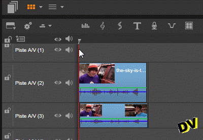 Overview of the timeline used to blur a face