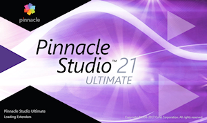Pinnacle Studio 21 écran de démarrage