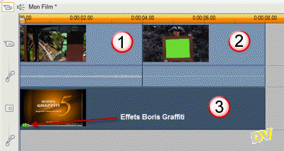 Using an additional track to apply the Boris Graffiti effect