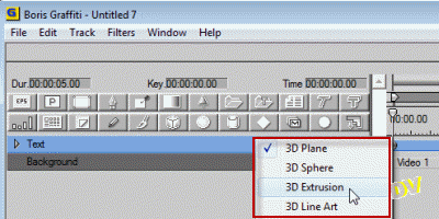 "Remplacing the ""3D Plane"" shape  by a ""3D Extrusion"" shape"