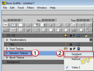 Input gradient media on Extrusion and Bevel tracks
