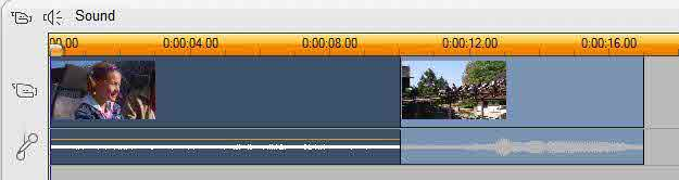 Two clips insertion on Studio video track
