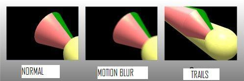 Motion blur and trailing options