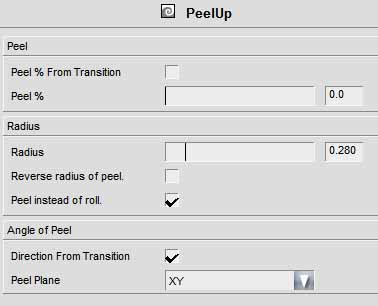 Easy FX Editor - Property panel for PEEL-UP warp effect