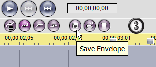"The ""Save Envelope"" button"