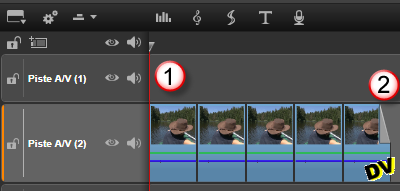 Duplication of test clip on the timeline