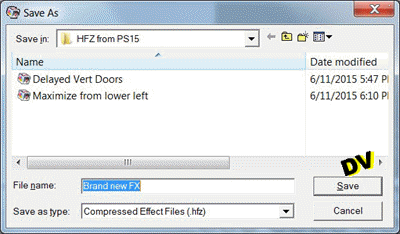 Export a transition (HFZ file)