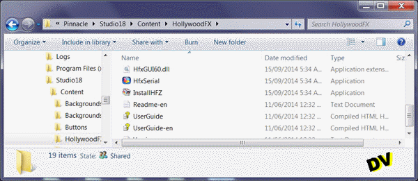 Search InstallHFZ File associated with Studio 18