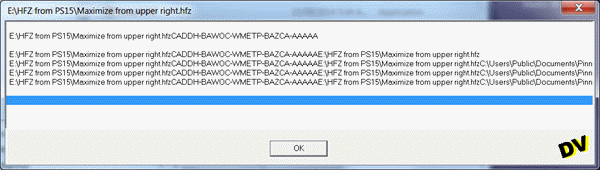 Decompression window of a HFZ file