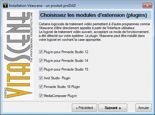 Sélection des versions de Studio