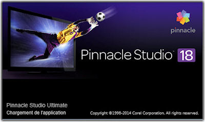Pinnacle Studio 18 écran de démarrage