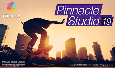 Pinnacle Studio 19 écran de démarrage