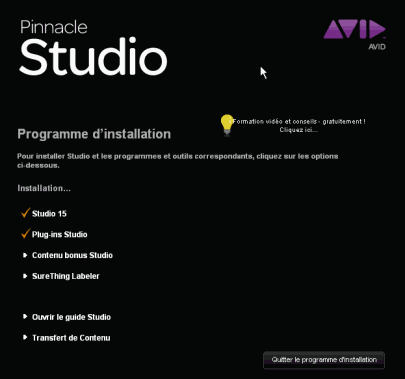 Pinnacle Studio 15 - Installation process