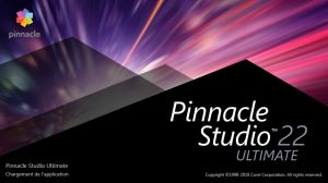 Pinnacle Studio 22 écran de démarrage