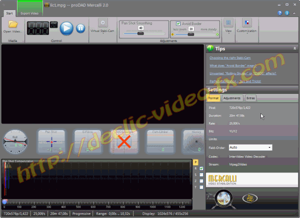 proDAD Mercalli V2 screen capture