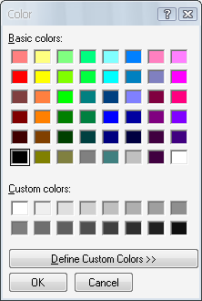 Color selection windows