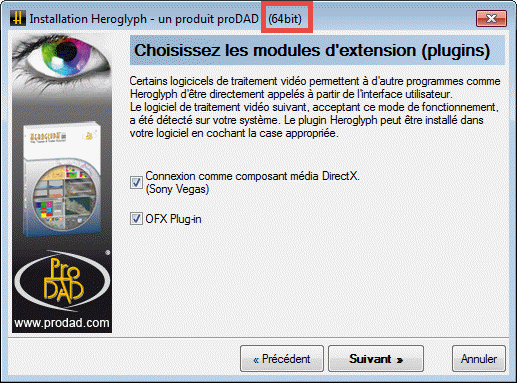 proDAD plugin 32 or 64 bits