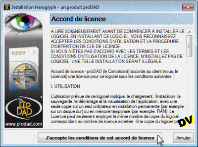 The acceptance of the license window