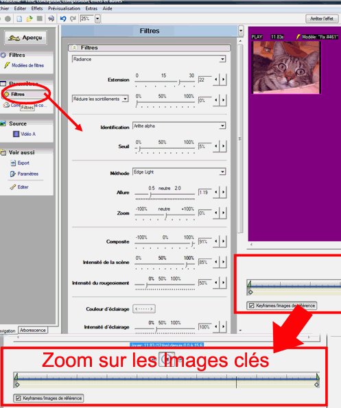 Zoom on the Effect Parameters