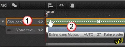 Add an input motion effect to the layer group