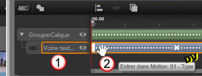 Add entry effect motion to the default layer