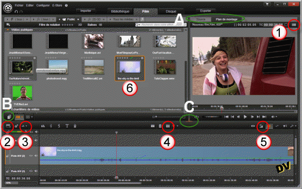 "General view of the new tab ""Film"""