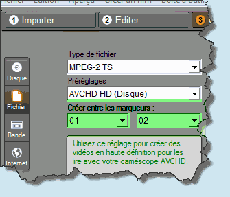 Export between markers in PS15