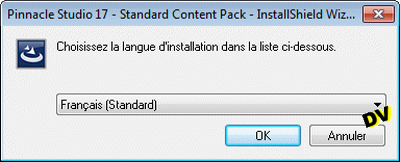 Select the installation language software