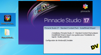 Image of Pinnacle Studio 17 while the installer starts working.