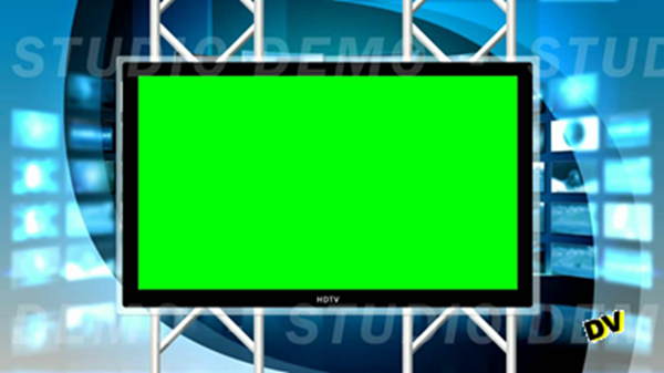 TV picture with a green background instead of the screen