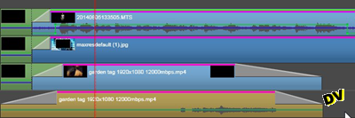 Creation of third track on the video timeline