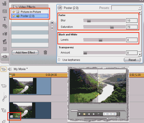 Applying a video overlay effect