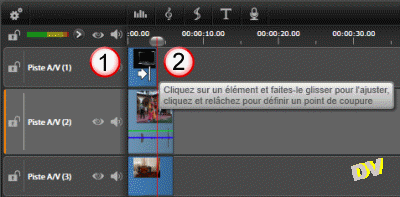 Adjusting the duration of an image using the slider adjustment